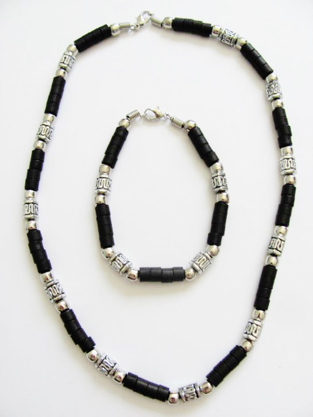 cancun chrome brown s bead necklace