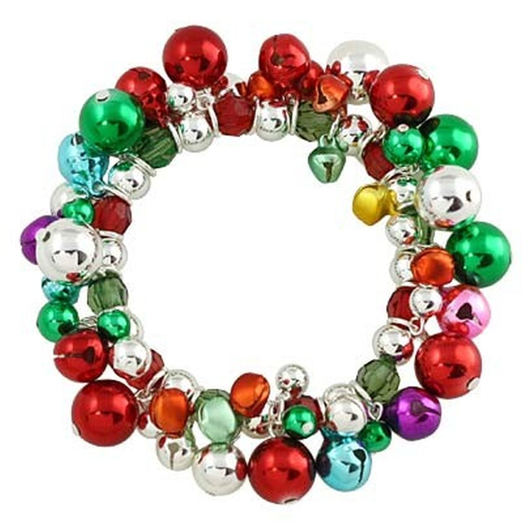 Christmas Ornaments & Jingle Bells Stretching Bracelet