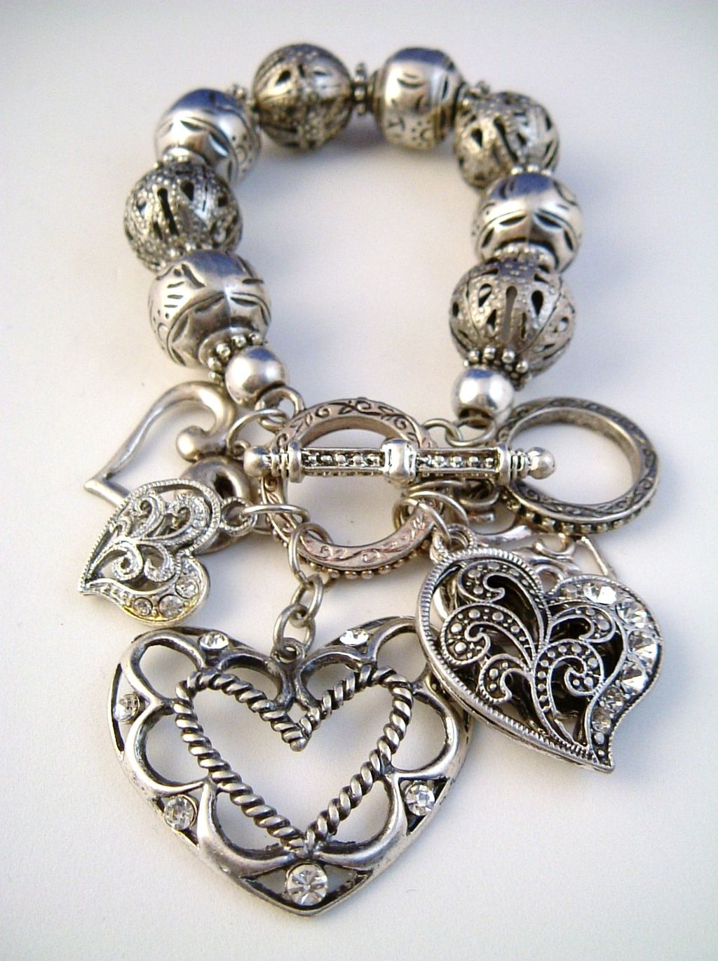 Can't talk Vintage heart bracelet