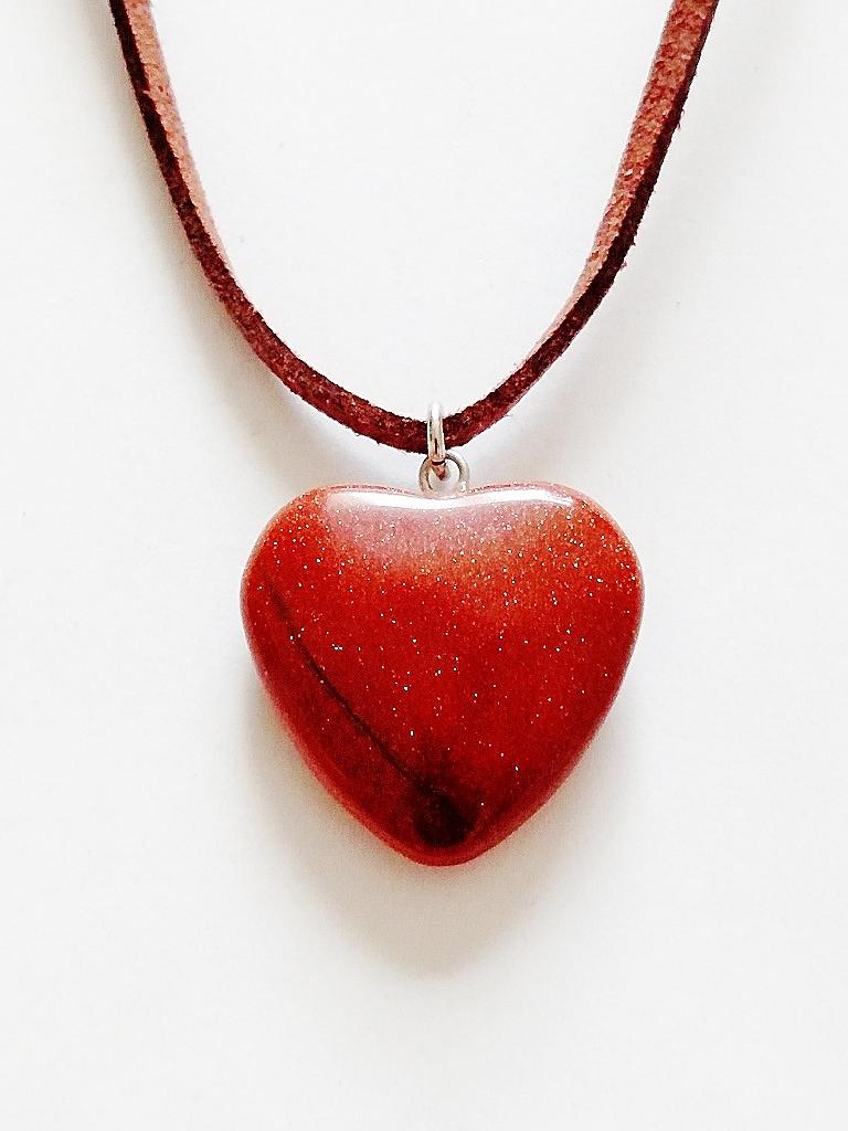 Genuine Amber Moonstone Heart Pendant Summer Beach Necklace