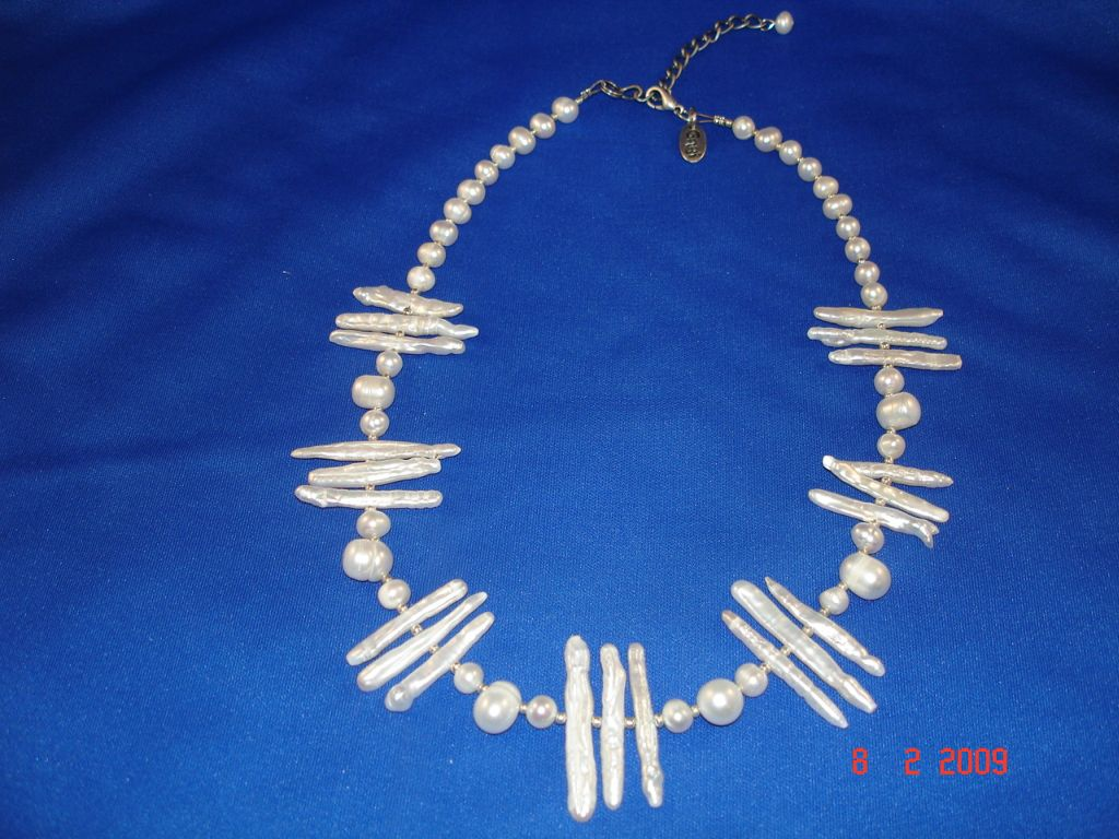Genuine Mother-of-Pearl Necklace, White Color, European Fashion Jewelry