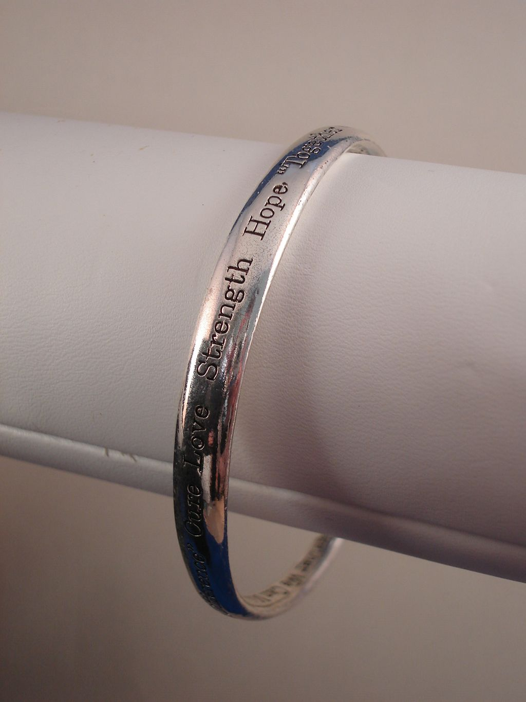 """Make a Difference"" Inspirational Twisted Bangle Bracelet with Engraving, Sterling Silver Plated"