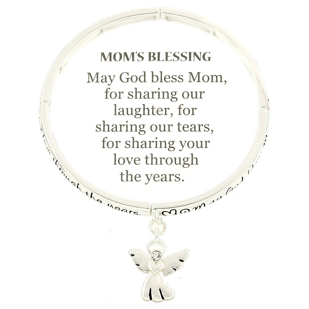 mother bangle bracelet twisted list charm inspirational mailing message daughter p sliver