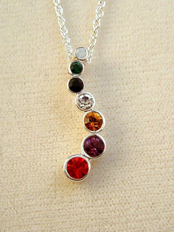 Multicolor austrian crystals journey pendant chain necklace quick view aloadofball Images