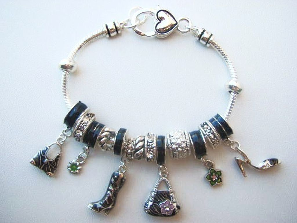 Pandora Inspired Girls Love Fashion Shoe Purse Charm