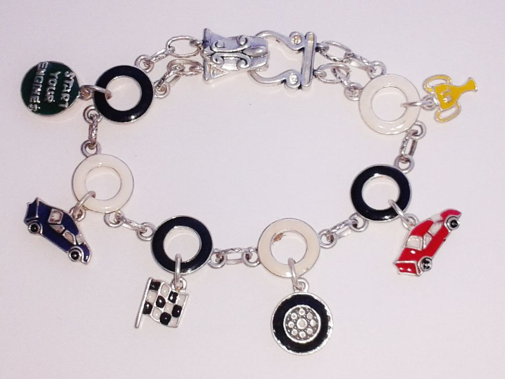 flag personalized initial etsy birthstone jewelry bracelet swarovski bangle crystal market racing silver adjustable il