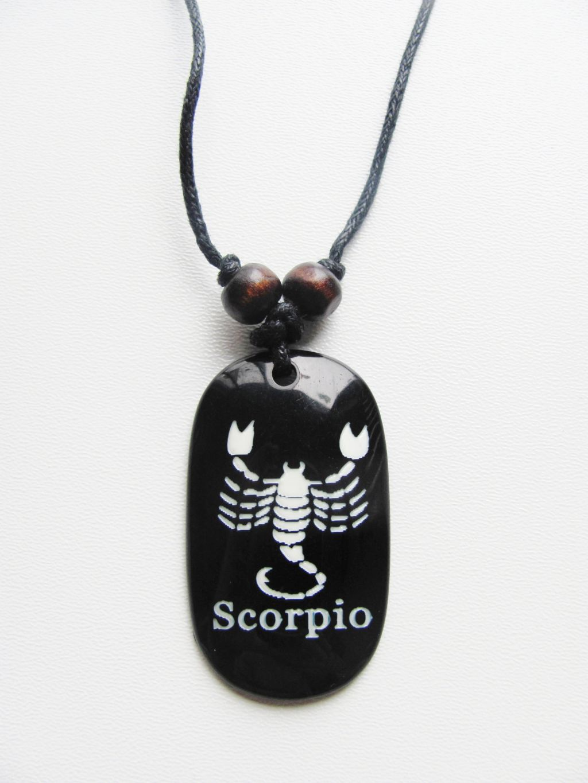 Scorpio Zodiac Sign Pendant Beach Men S Adjustable