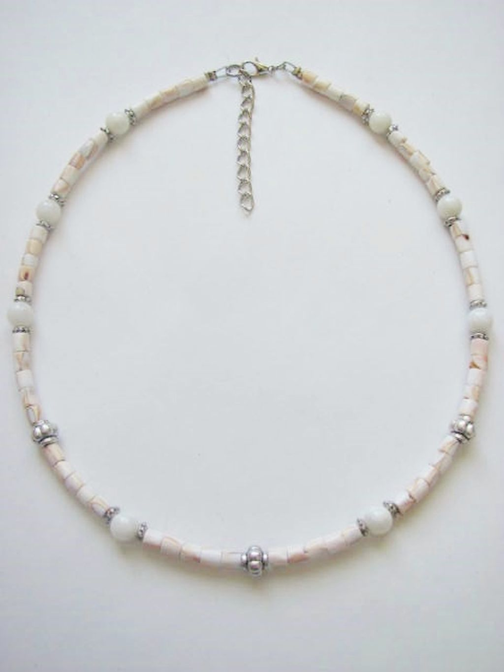 Shells Unlimited & Quartz Men's Surfer Style Beaded Necklace, Beach Choker