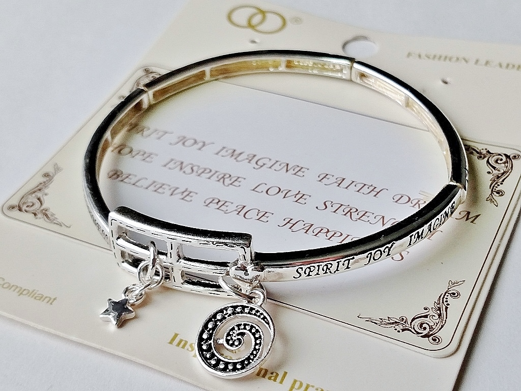 custom initial message for personalized item women positive quote name engraved language bangle woman bracelet mantra inspirational cuff jewelry any
