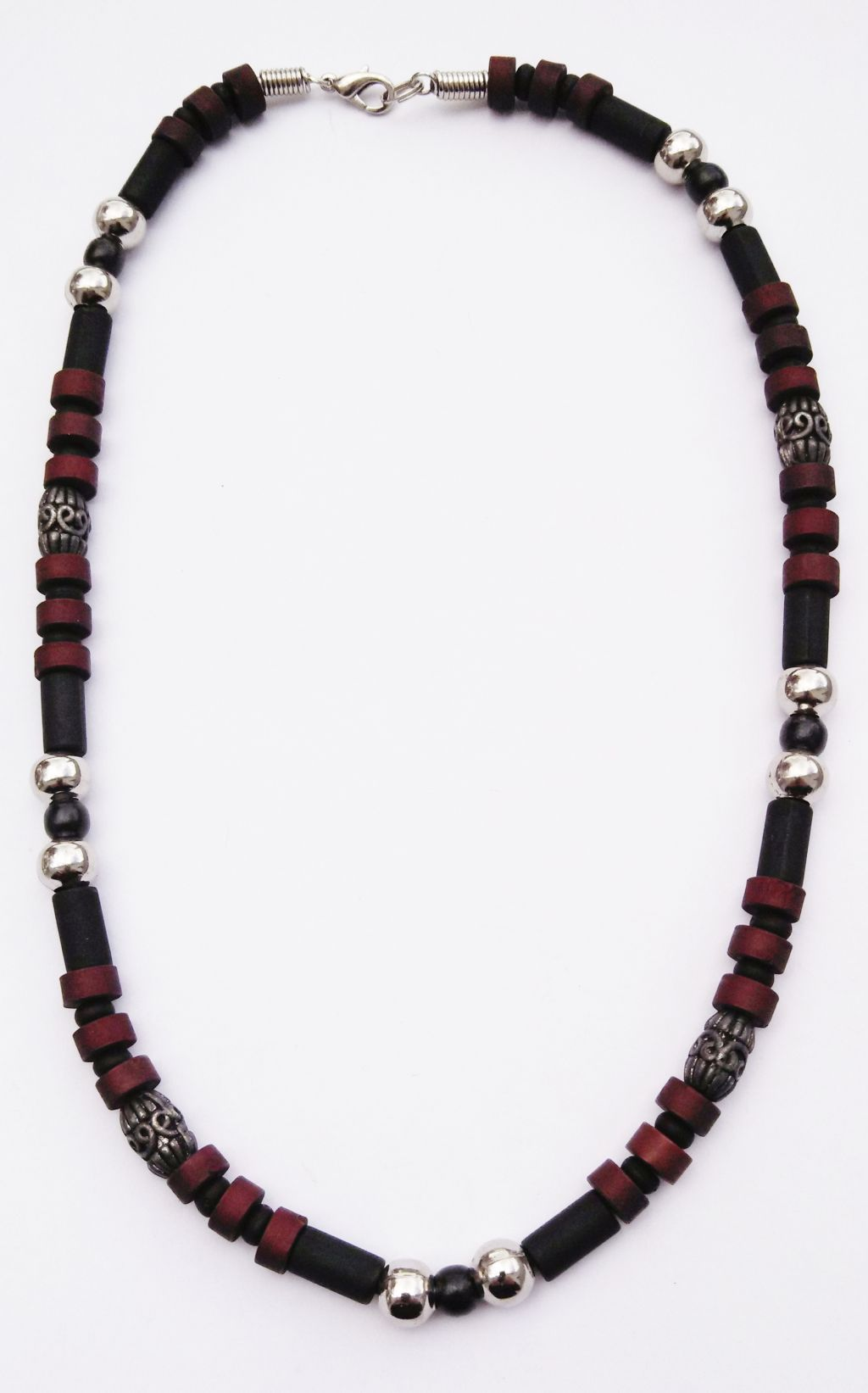 three tone s surfer style beaded choker necklace