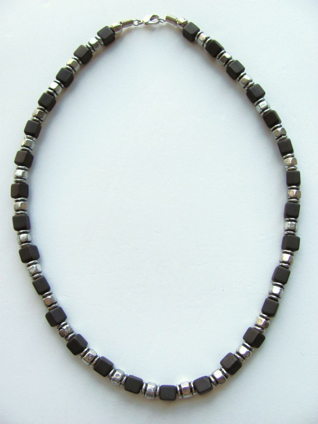 Two Tone Black Cube Surfer Beaded Necklace Men S Beach