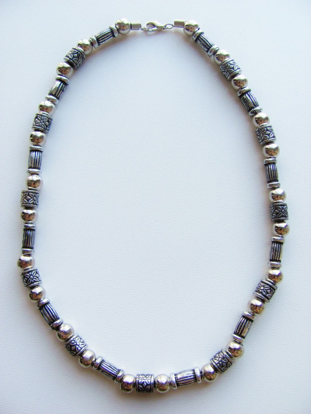 vintage silver tone surfer beaded necklace s
