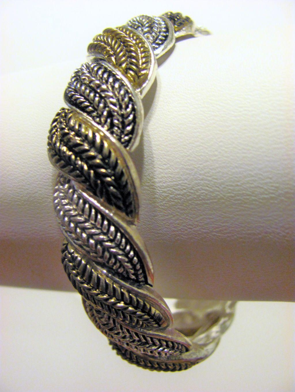 Vintage Style Twisted Rope Stretching Bangle Bracelet