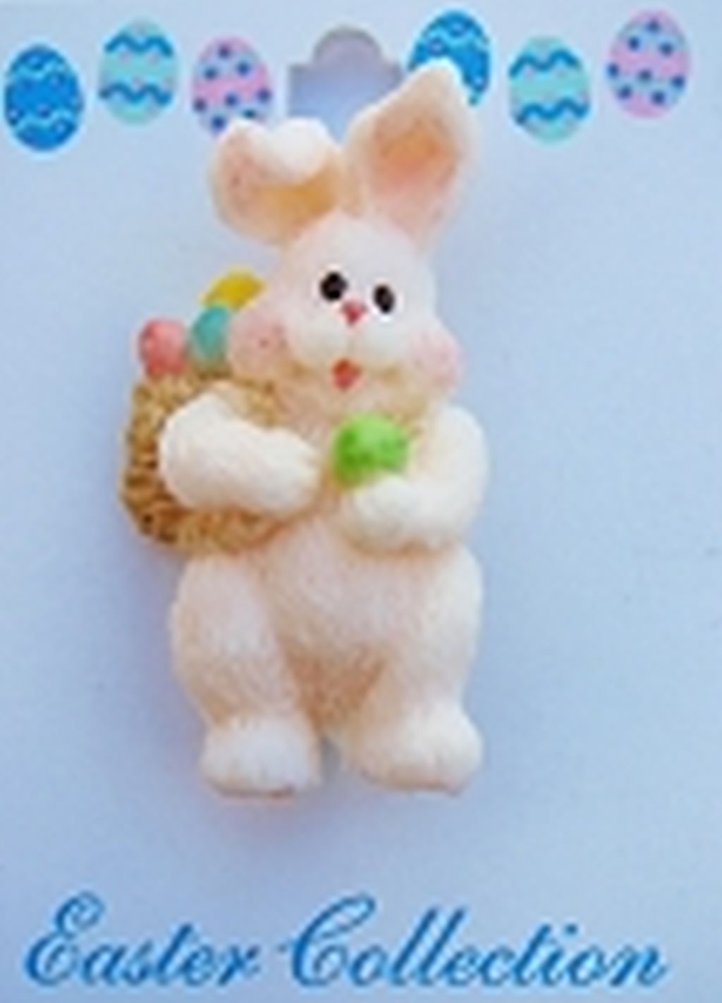 Easter Bunny & Eggs Back Busket Brooch Pin