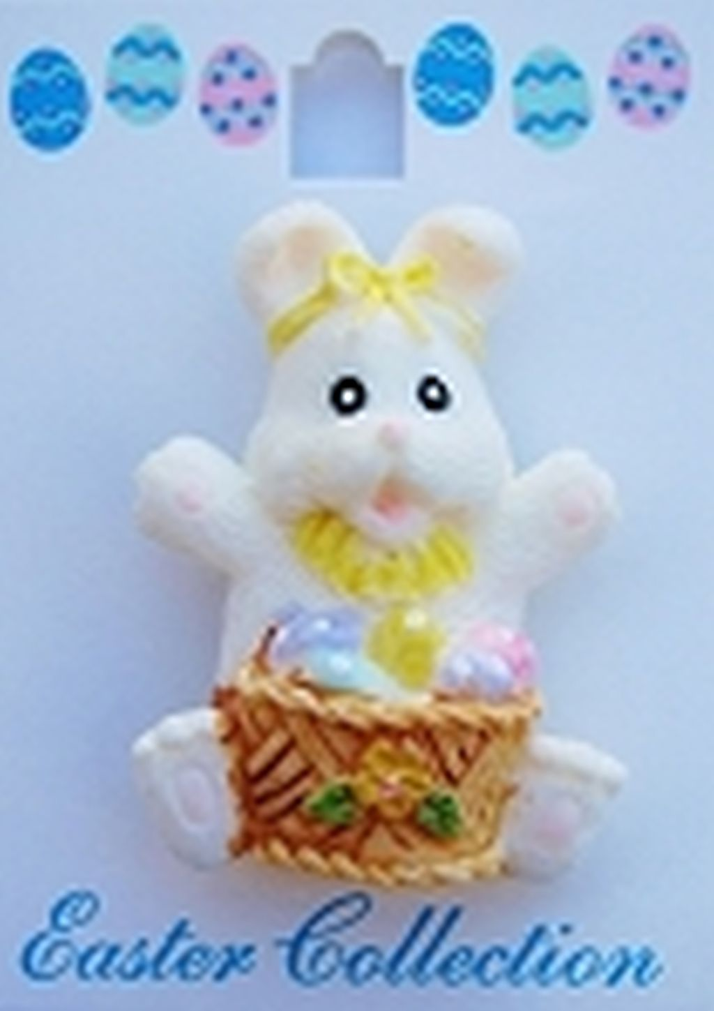 Easter Bunny & Eggs Basket Brooch Pin