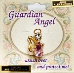 Alexandrite-June Birthstone Guardian Angel Pin, Genuine Austrian Crystals
