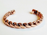 Magnetic Copper Cuff Bracelet Twisted Rope, Arthritis Natural Cure