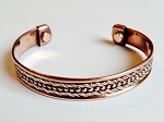 Magnetic Copper Cuff Adjustable Bracelet Two-tone Ornament, Arthritis Natural Cure