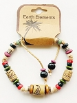 Belize Beach Earth Elements Bracelet, Spiritual Beaded Surfer Men's Jewelry