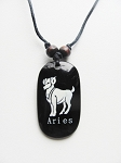 Aries Zodiac Sign Pendant Beach Men's Adjustable Necklace, Unisex Surfer Style Jewelry