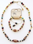 Aruba Beach Earth Elements Necklace Bracelet, Spiritual Beaded Surfer Men's Jewelry