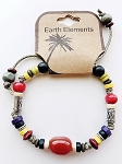 Bahamas Beach Earth Elements Bracelet, Spiritual Beaded Surfer Men's Jewelry