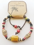 Cancun Beach Earth Elements Bracelet, Spiritual Beaded Surfer Men's  Jewelry