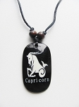Capricorn Zodiac Sign Pendant Beach Men's Adjustable Necklace, Unisex Surfer Style Jewelry