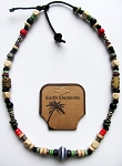 Barbados Earth Elements Spiritual Beaded Necklace, Beach Surfer Men's Jewelry