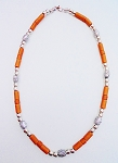 Haiti Voodoo Beaded Beach Necklace, Men's Surfer Style Rusty Brown Two-tone