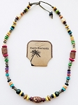 Hawaii Beach Earth Elements Necklace, Spiritual Beaded Surfer Men's Jewelry