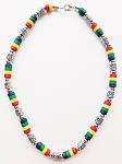 Palm Beach Multicolor Men's Necklace Beaded, Surfer Style Choker