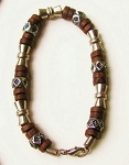 Salem Beach Beaded Bracelet, Men's Surfer Style Jewelry Brown