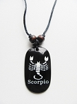 Scorpio Zodiac Sign Pendant Beach Men's Adjustable Necklace, Unisex Surfer Style Jewelry