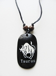 Taurus Zodiac Sign Pendant Beach Men's Adjustable Necklace, Unisex Surfer Style Jewelry