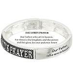 The Lord's Prayer Bracelet Inspirational Message, Silver