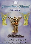 Vintage Gold Topaz-November Birthstone Guardian Angel Pin, Genuine Austrian Crystal