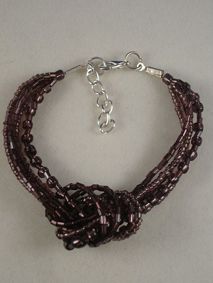 Amethyst Beads Contemporary Knot Bracelet