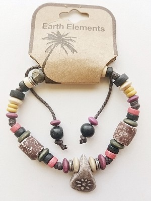 Cuba Beach Earth Elements Bracelet, Spiritual Beaded Surfer Men's Jewelry