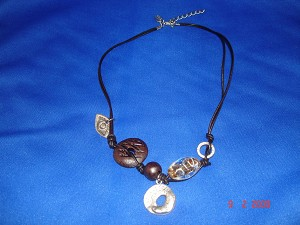 Dark Brown Evil Eye Genuine Leather Necklace, Protects from Evil Spirit, European Fashion Jewelry