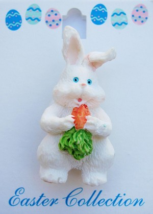 Easter Bunny Eggs & Carrot Brooch Pin