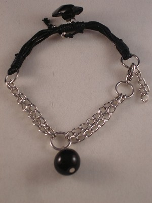 Genuine Onyx Stones Contemporary Bracelet