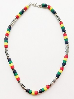 Miami Beach Multicolor Men's Necklace Beaded, Surfer Style Choker