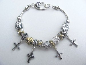 2f674a5d7 thumbnail.asp?file=assets/images/Pandora-Inspired-Cross-Fleur-de-Lis-Charm -Bead-Bracelet-Vintage-Two-Tone-1.JPG&maxx=300&maxy=0