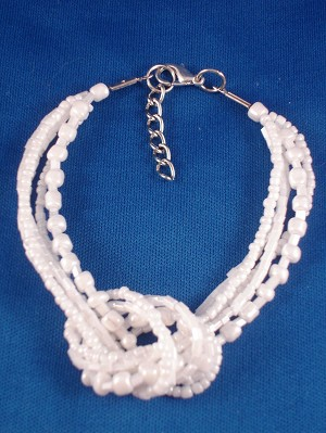 Snow White Beads Contemporary Knot Bracelet