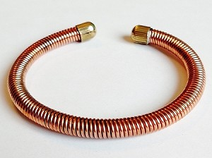 Copper Wire Cuff Adjustable Bracelet, Arthritis Natural Cure