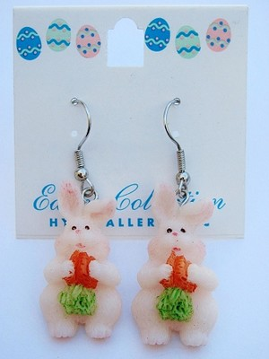 Easter Bunny & Carrots Earrings