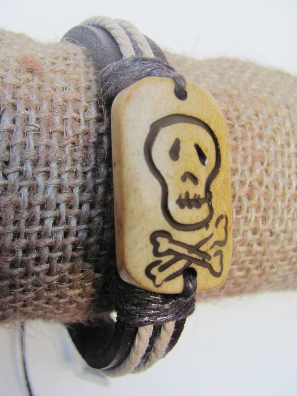 Rebel Men`s Tribal Bracelet Brown Mystic Symbol Thick Genuine Leather Beach Surfer Style