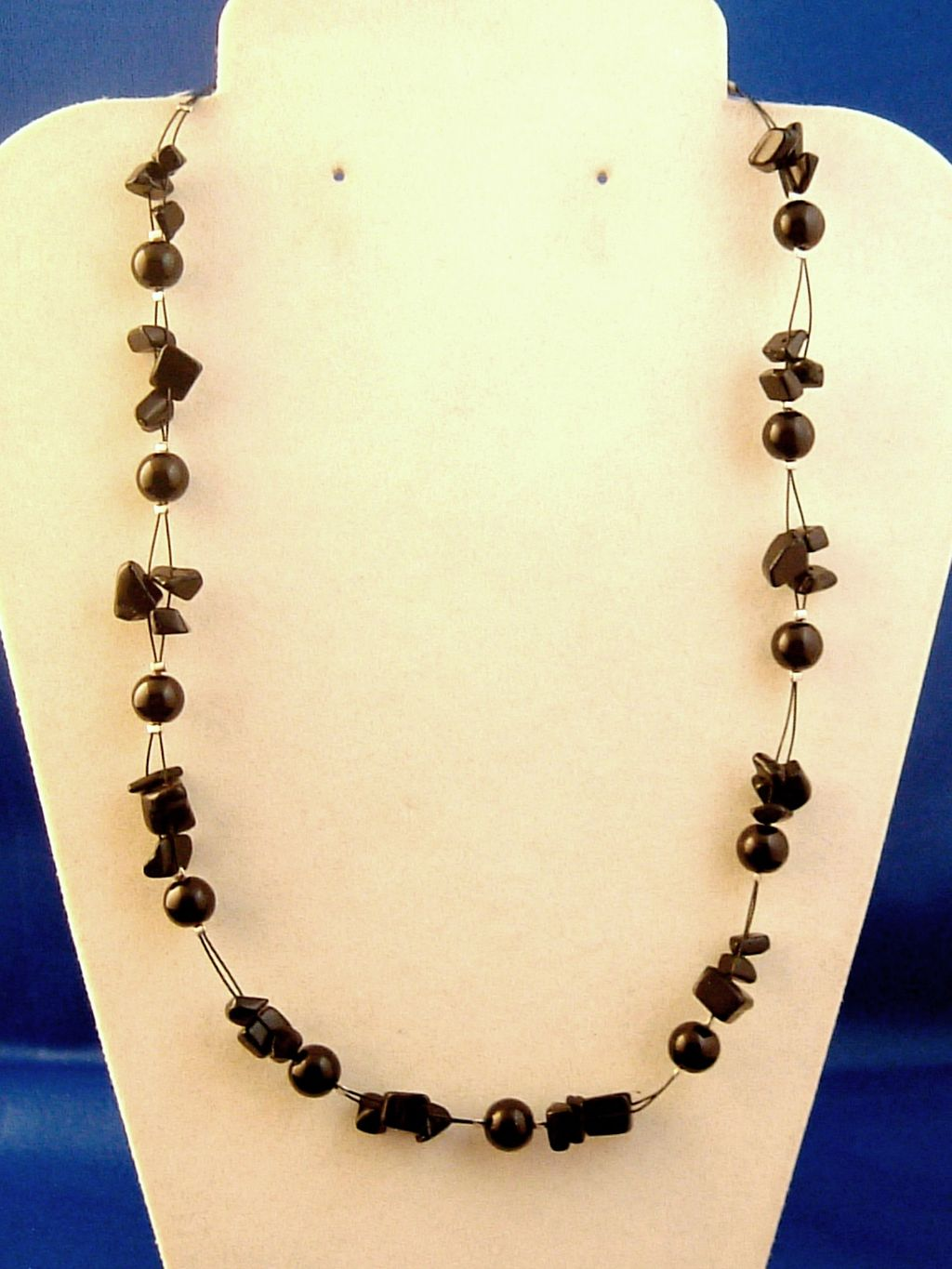 Black Necklace, Two Layers of Genuine Shells & Artificial Pearls, Fashion European Jewelry
