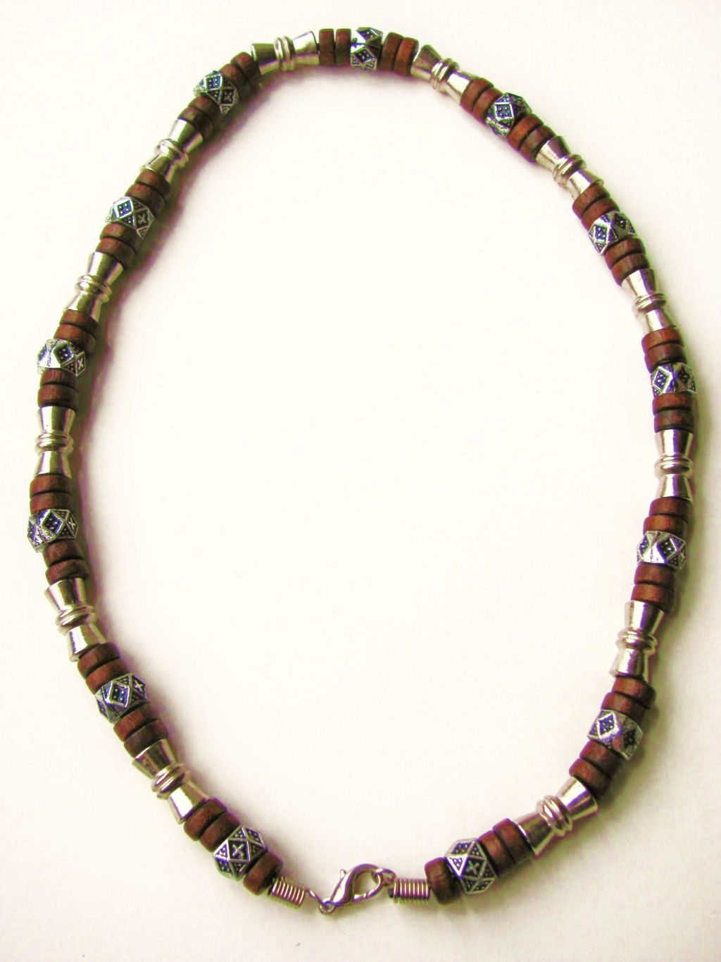 Salem Beach Beaded Necklace, Men's Surfer Style Jewelry Brown